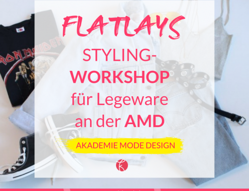 Stylingworkshop Fashion-Flatlay für den Studiengang Modejournalismus