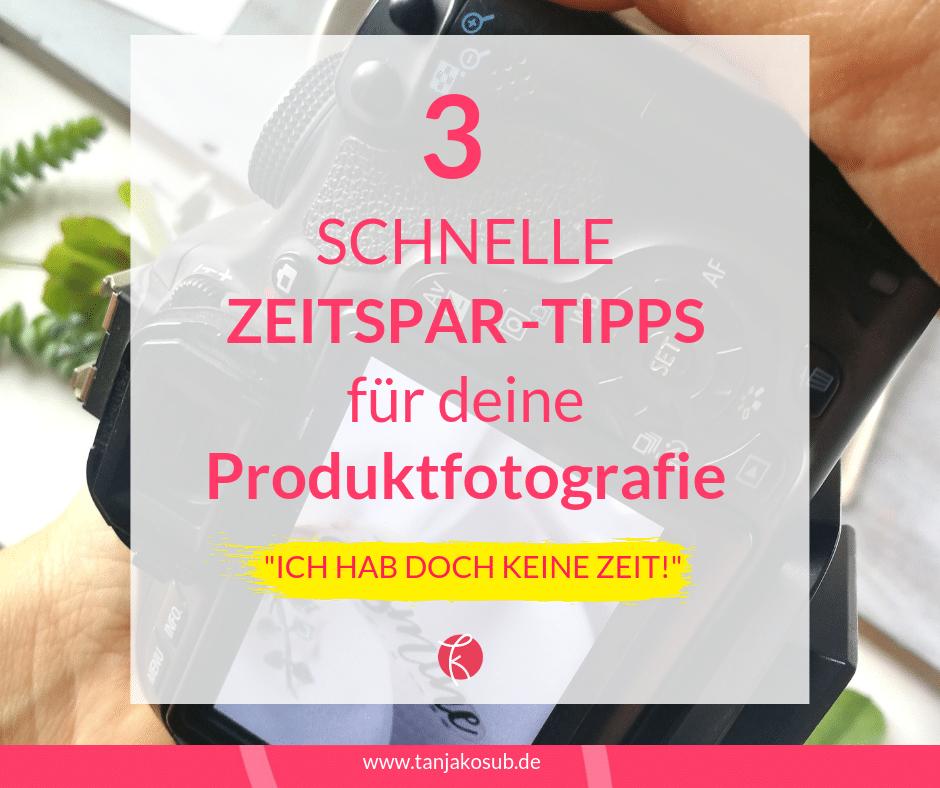 Zeit sparen bei Produktfotografie