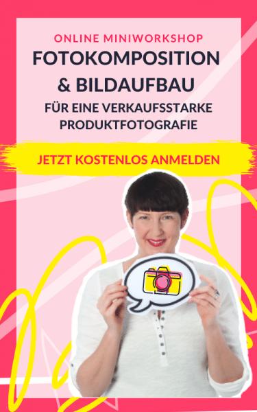 Webinar Fotokomposition für Produktfotos Anmeldung