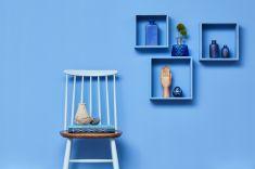 Interieur-Styling blaue Wand