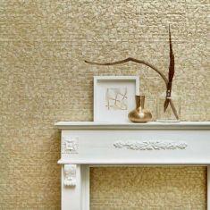 Interieur-Styling goldene Wand